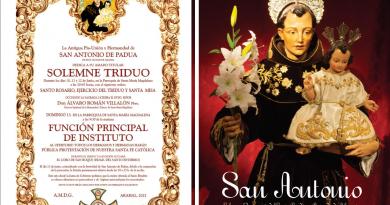Cultos en Arahal a San Antonio de Padua por su onomástica