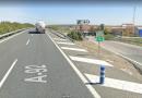 Dos heridos en una colisión y salida de vía en el kilómetro 41 de la A-92 a la altura de Arahal
