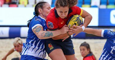 Marta Carmona, subcampeona de Europa con España en rugby playa